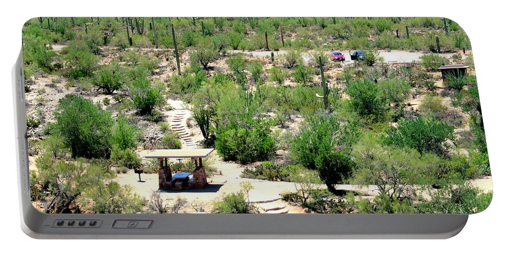 Arizona Portable Battery Charger featuring the photograph Picnic In The Desert by Darrell Clakley
