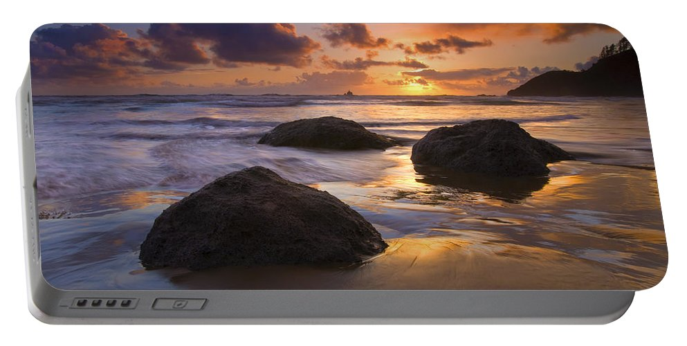 Sunset Portable Battery Charger featuring the photograph Pieces Of Eight by Mike Dawson