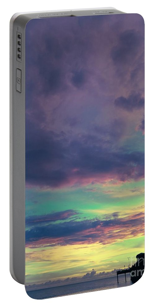 Sky Portable Battery Charger featuring the photograph Pier Of Dreams by Jennifer Rose Hill