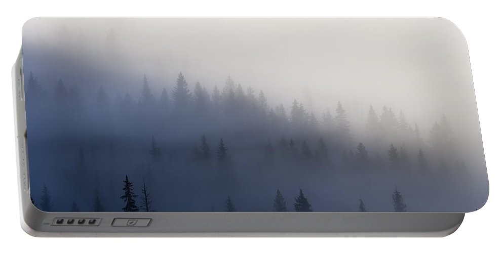 Clouds Portable Battery Charger featuring the photograph Piercing The Veil by Mike Dawson