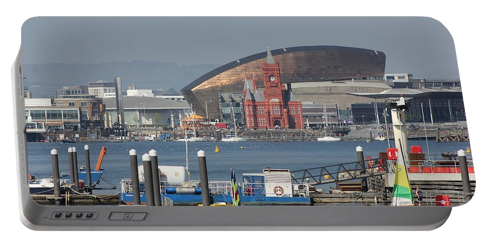 Pierhead Portable Battery Charger featuring the photograph Pierhead Building In Cardiff Bay by Vicki Spindler