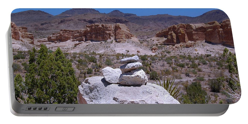 Mountain Portable Battery Charger featuring the photograph Pile by Leticia Latocki