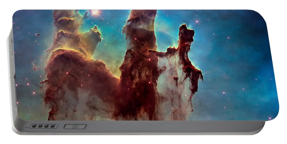 Pillars Of Creation Portable Battery Charger featuring the photograph Pillars of Creation in High Definition Cropped by Jennifer Rondinelli Reilly - Fine Art Photography