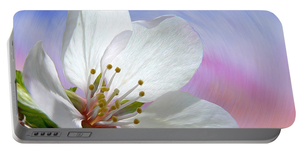 Pin Cherry Swirl Portable Battery Charger featuring the photograph Pin Cherry Swirl by Barbara St Jean