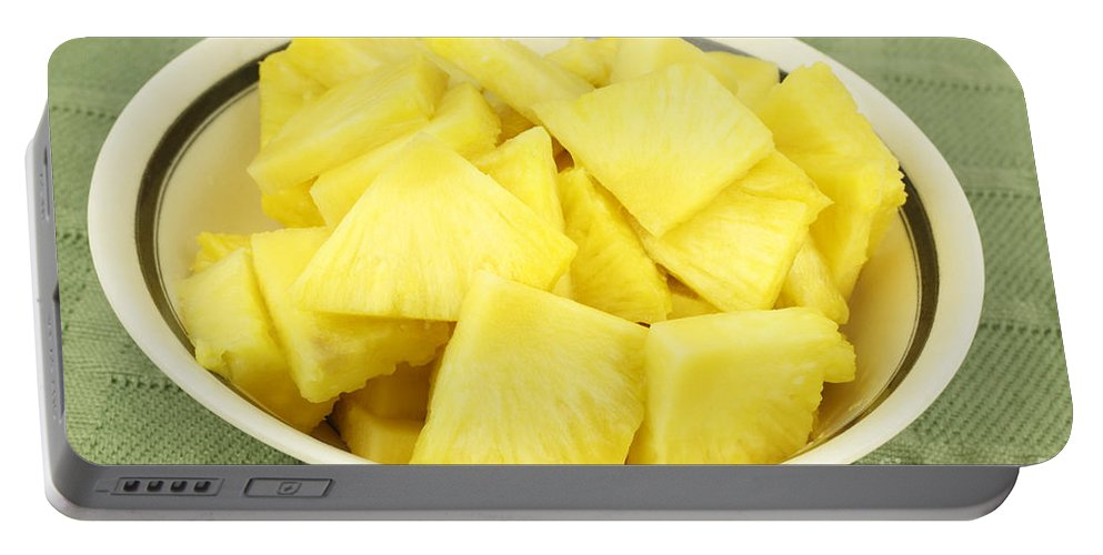 Pineapple Portable Battery Charger featuring the photograph Pineapple Chunks by Lee Serenethos
