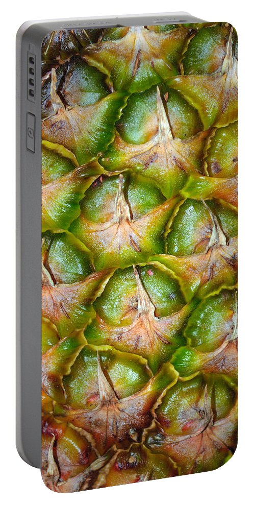 Fruit Portable Battery Charger featuring the photograph Pineapple Skin by Tikvah's Hope