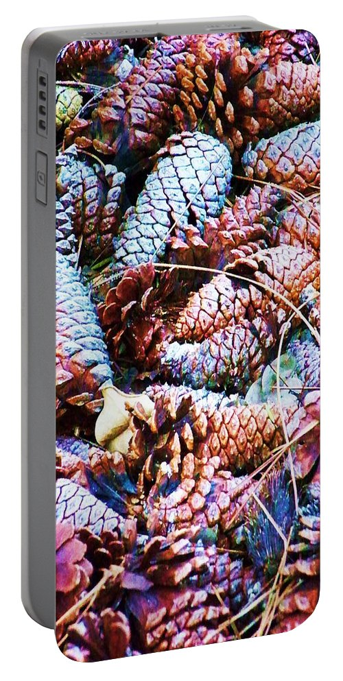 Pinecone Portable Battery Charger featuring the photograph Pinecone by Chuck Hicks