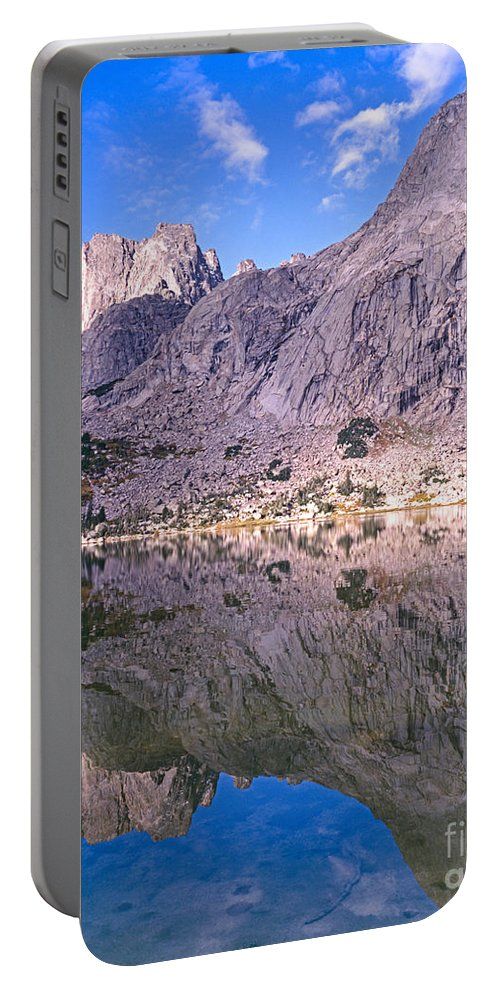 Pingora Peak Portable Battery Charger featuring the photograph Pingora Peak On Lonesome Lake by Tracy Knauer