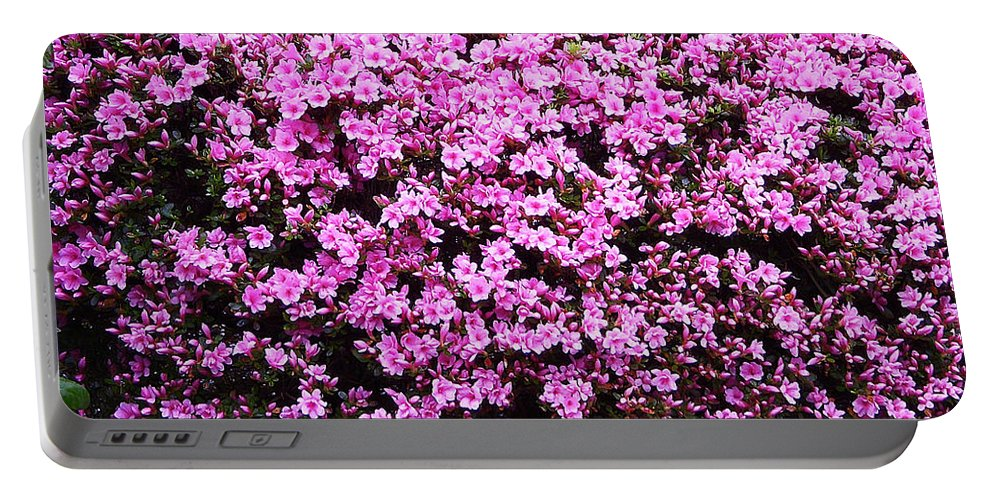Spring Portable Battery Charger featuring the photograph Pink As Pink Can Be by Aimee L Maher ALM GALLERY