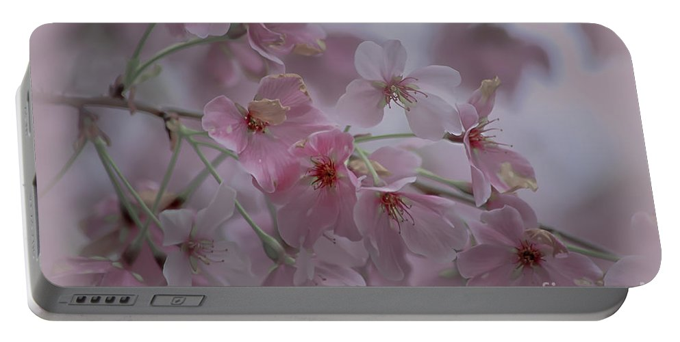 Pink Portable Battery Charger featuring the photograph Pink Blossoms by Scott Hervieux