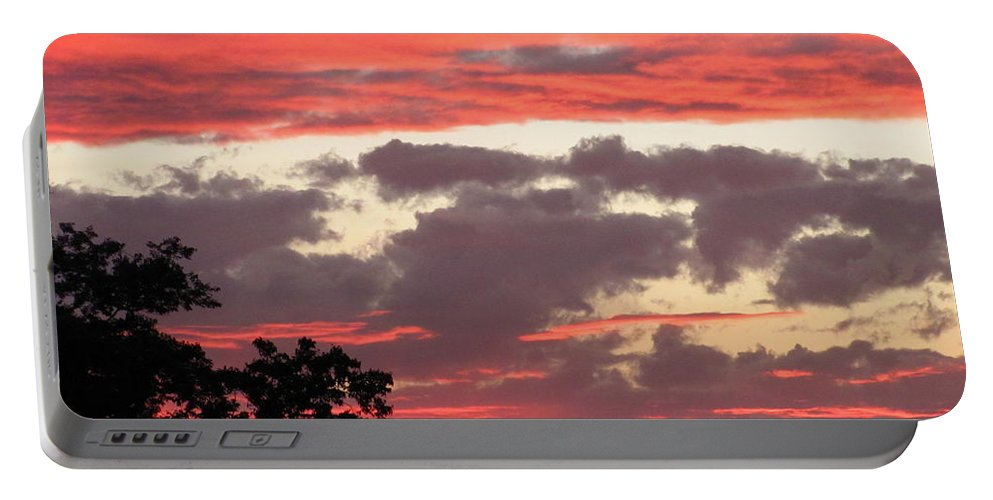Pink Clouds Sunset Photograph Sunset Canvas Prints Skyscape Silhouette Landscape Pink And Purple Clouds Prints Pink Skies Purple Sky Pink Skyscape Posters Portable Battery Charger featuring the photograph Pink Clouds by Joshua Bales