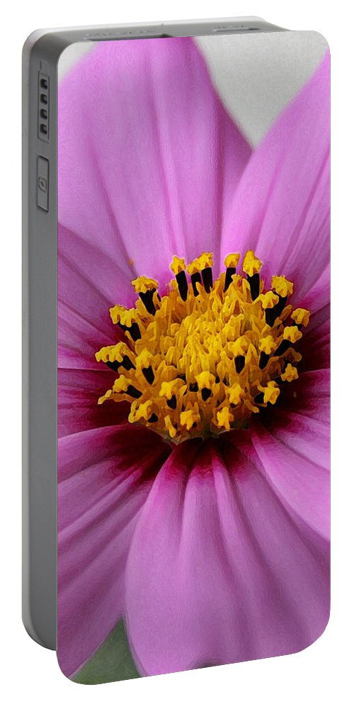Pink Portable Battery Charger featuring the photograph Pink Coreopsis by Susan McMenamin