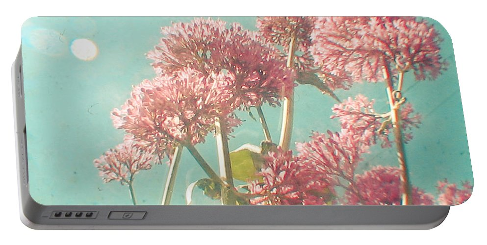 Flowers Portable Battery Charger featuring the photograph Pink Milkweed by Cassia Beck