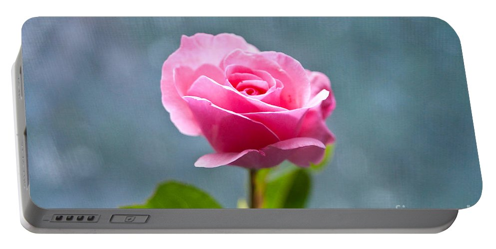 Pink Rose Portable Battery Charger featuring the photograph Pink Rose by Steven Dunn