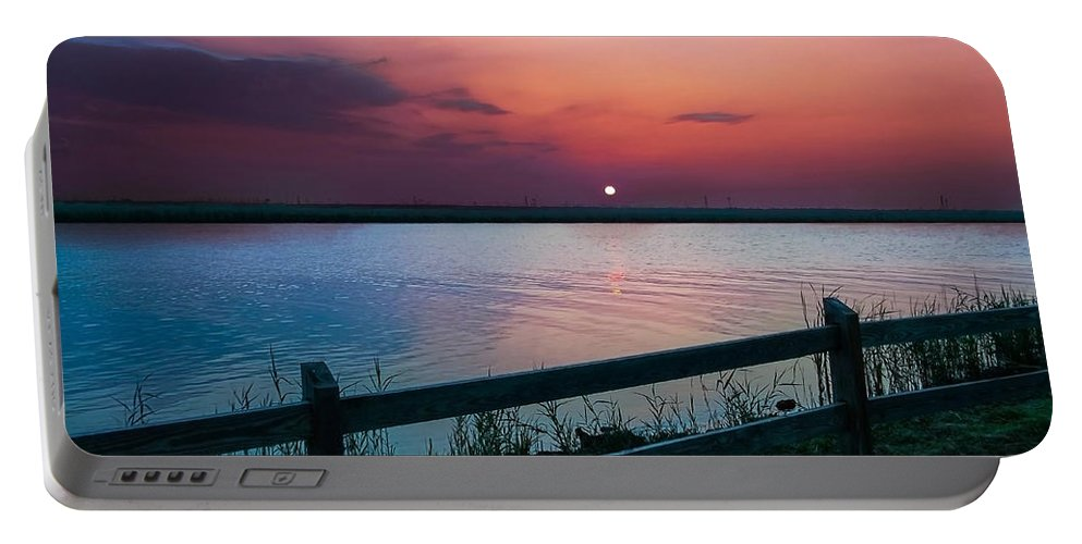 Pink Sunset Portable Battery Charger featuring the photograph Pink Sunset by Mechala Matthews