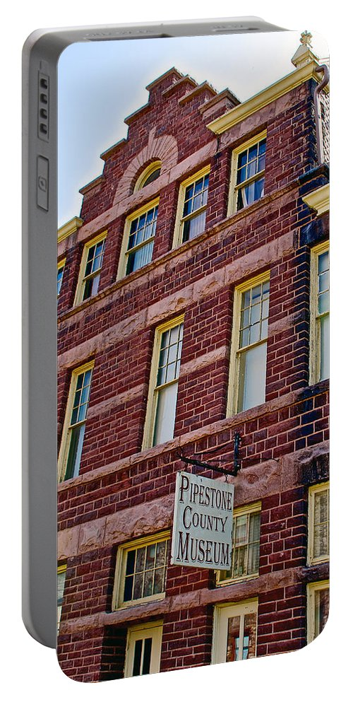 Pipestone County Museum-1886 In Pipestone Portable Battery Charger featuring the photograph Pipestone County Museum-1886 In Pipestone-minnesota by Ruth Hager