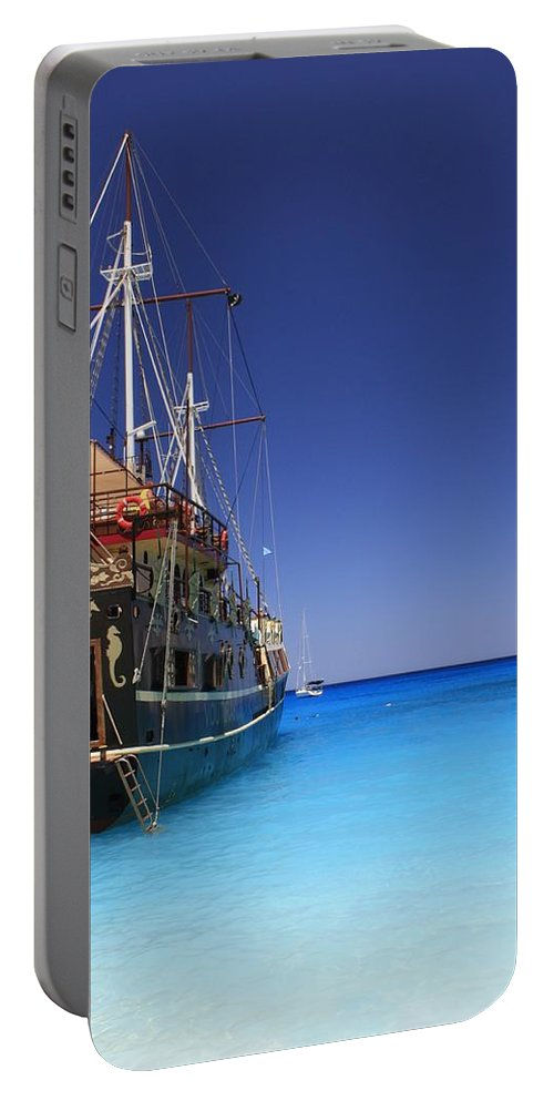 Pirate-boat Portable Battery Charger featuring the photograph Pirate Boat by FL collection