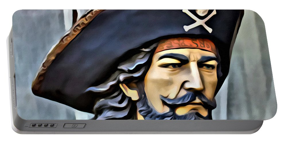 Pirate Portable Battery Charger featuring the photograph Pirate Man by Alice Gipson