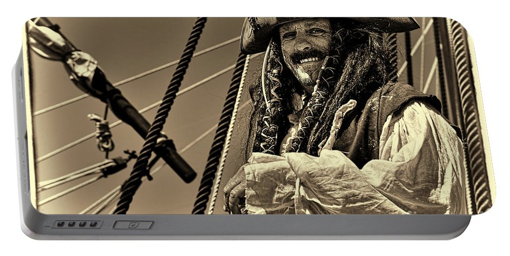 Pirate Portable Battery Charger featuring the photograph Pirate by Olga Hamilton