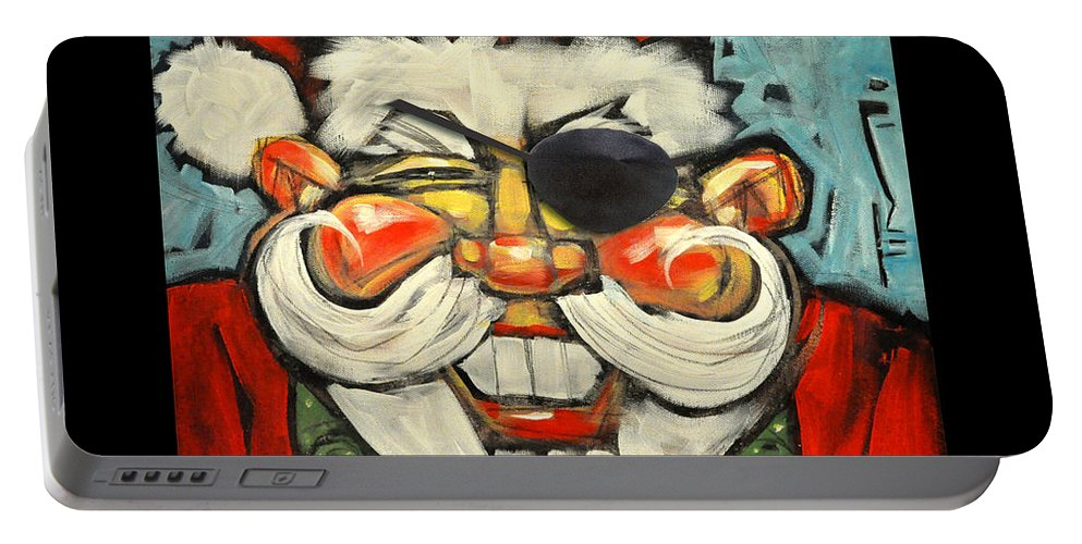 Santa Portable Battery Charger featuring the painting Pirate Santa Poster by Tim Nyberg