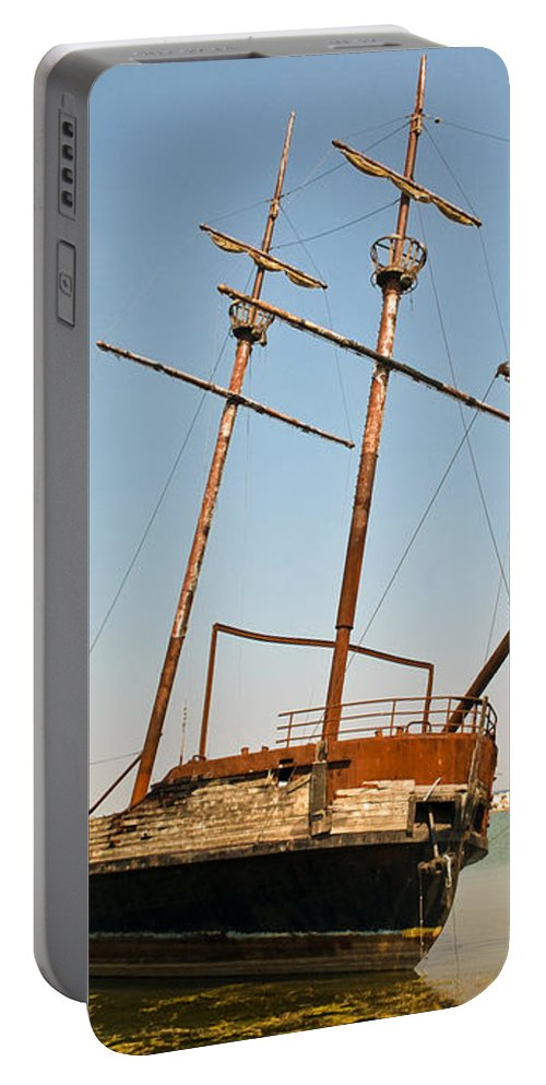 Arson Portable Battery Charger featuring the photograph Pirate Ship Or Sailing Ship by Sue Smith