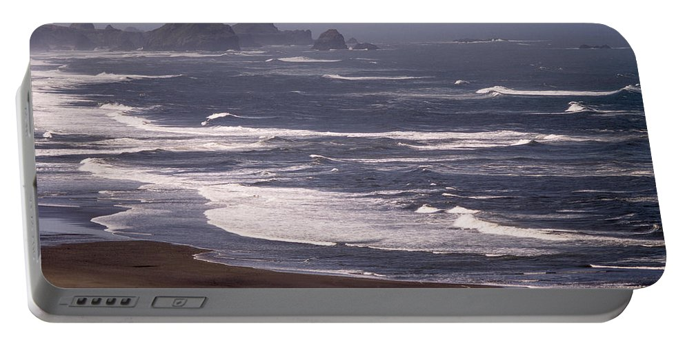 Beach Portable Battery Charger featuring the photograph Pistol River Beach by Tracy Knauer