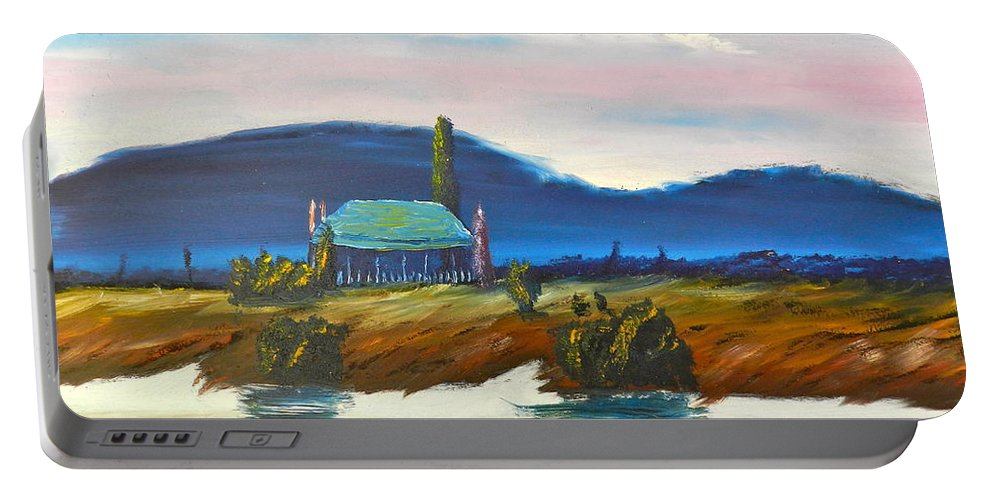 Impressionist Portable Battery Charger featuring the painting Pittown by Pamela Meredith