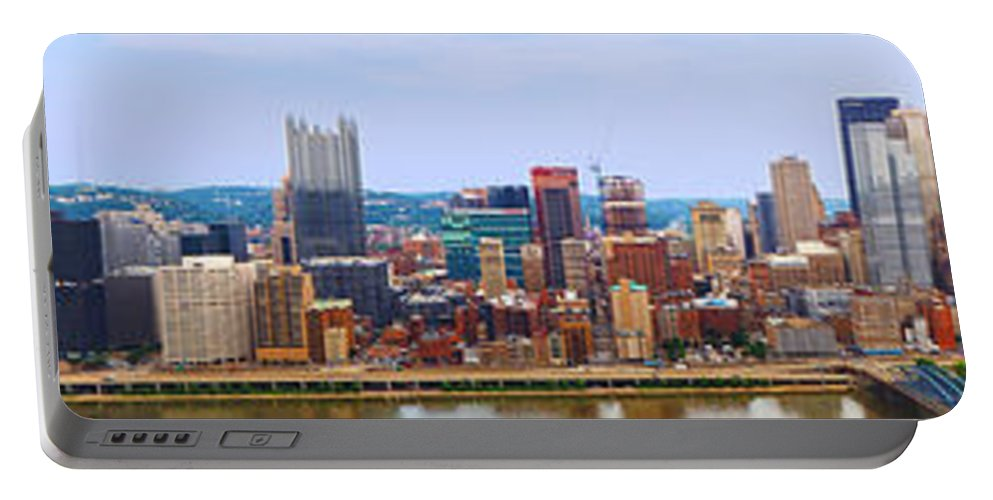 Pittsburgh Portable Battery Charger featuring the photograph Pittsburgh From Grandview by C H Apperson