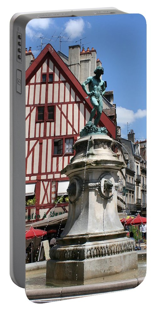 Frame House Portable Battery Charger featuring the photograph Place Francois Rude - Dijon by Christiane Schulze Art And Photography