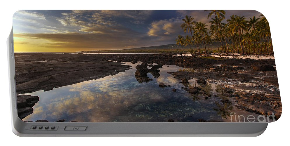 Place Of Refuge Portable Battery Charger featuring the photograph Place Of Refuge Sunset Reflection by Mike Reid