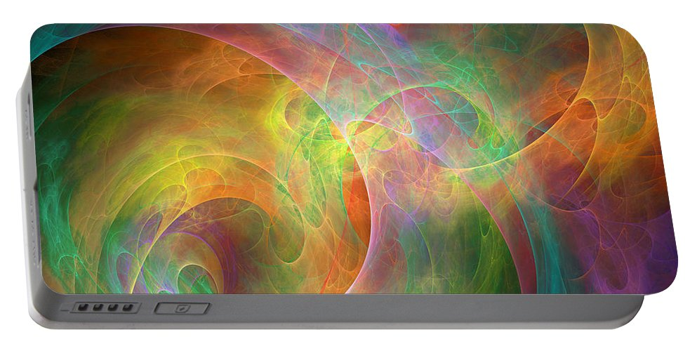 Pleasures Portable Battery Charger featuring the digital art Placeres-04 by RochVanh