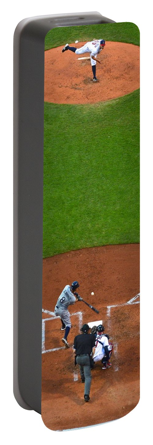 Cleveland Portable Battery Charger featuring the photograph Play Ball by Frozen in Time Fine Art Photography