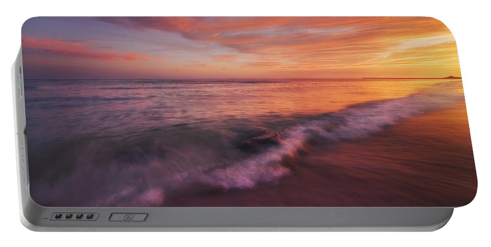 Beach Portable Battery Charger featuring the photograph Playa De Fuego by Peter Coskun