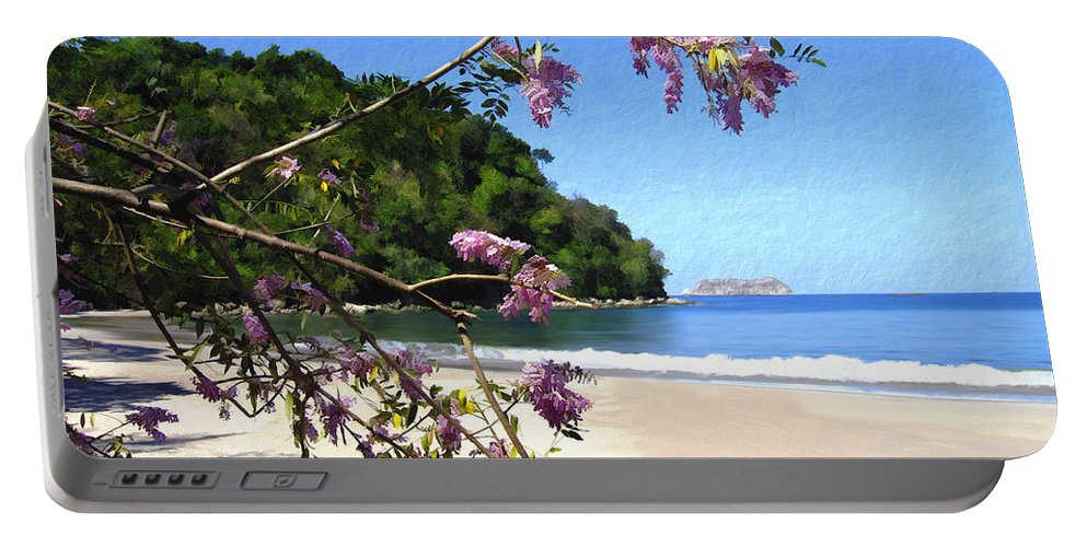 Beach Portable Battery Charger featuring the photograph Playa Espadillia Sur Manuel Antonio National Park Costa Rica by Kurt Van Wagner