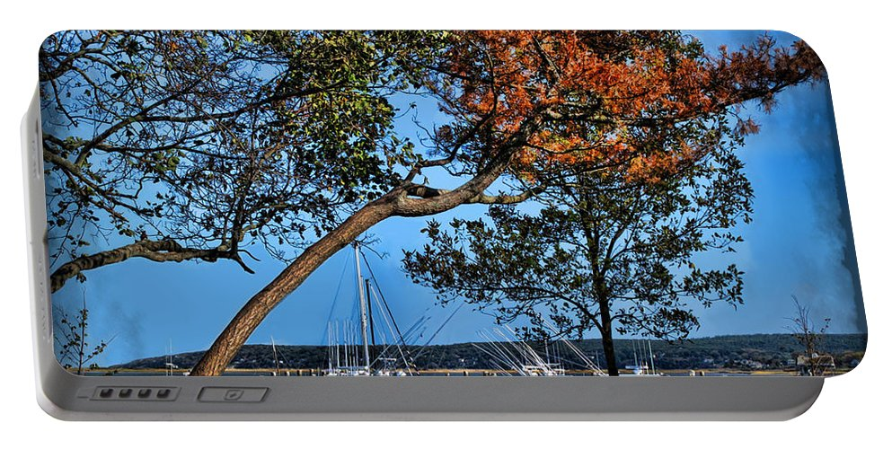Atlantic Portable Battery Charger featuring the photograph Plymouth Harbor In Autumn by Joan Minchak