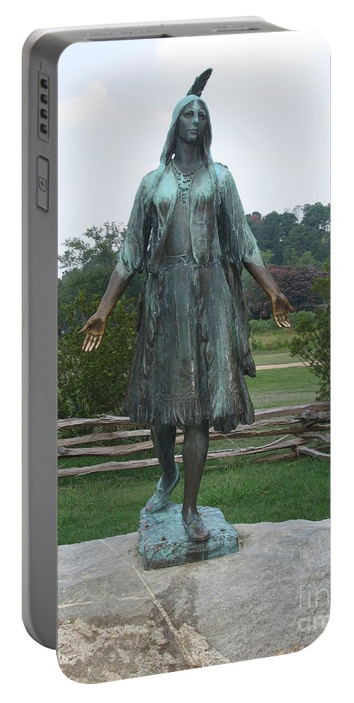 Sculpture Portable Battery Charger featuring the photograph Pocahontas Sculpture by Christiane Schulze Art And Photography