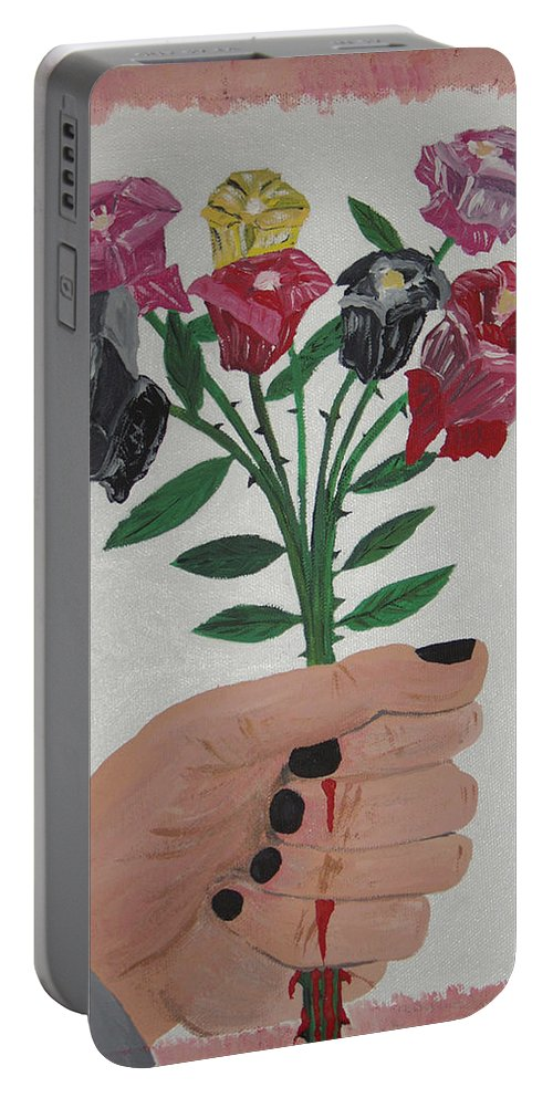 Painting Portable Battery Charger featuring the painting Point Of Beauty by Dean Stephens