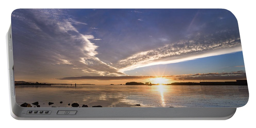 Humboldt Bay Portable Battery Charger featuring the photograph Point Of The Sunset by Greg Nyquist