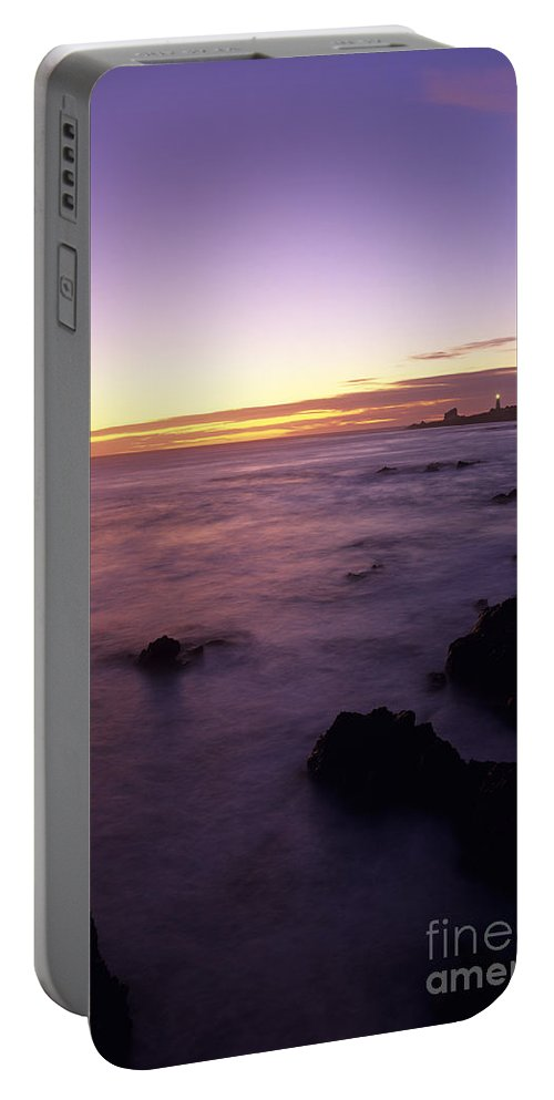 Landscape Portable Battery Charger featuring the photograph Point Piedras Blancas Lighthouse by Jim Corwin