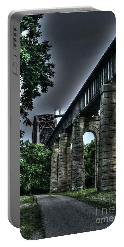 Bridge Portable Battery Charger featuring the photograph Point Pleasant West Virginia by Tommy Anderson