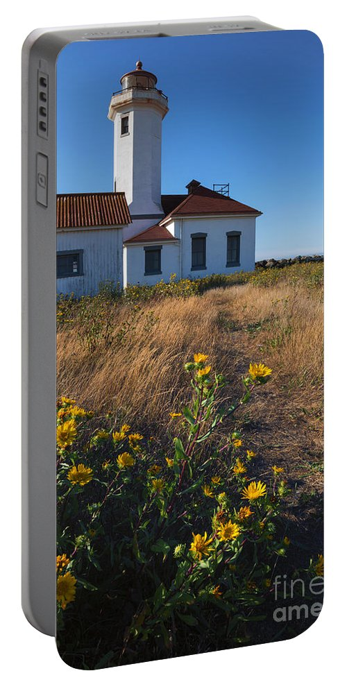 Point Wilson Lighthouse Portable Battery Charger featuring the photograph Point Wilson Lighthouse by Mike Dawson