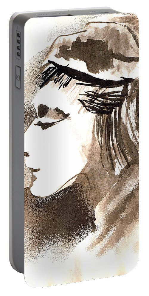 Poise Portable Battery Charger featuring the digital art Poise by Seth Weaver
