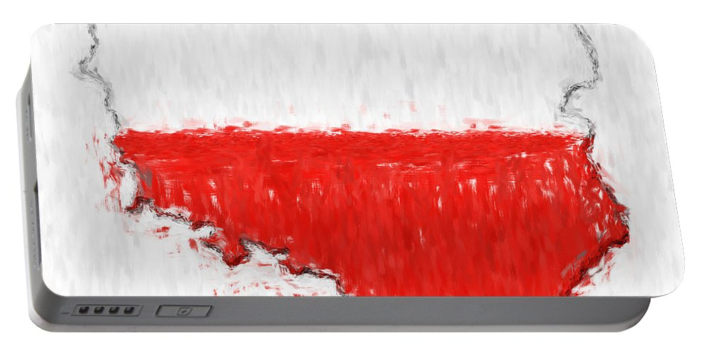 Poland Portable Battery Charger featuring the photograph Poland Painted Flag Map by Antony McAulay