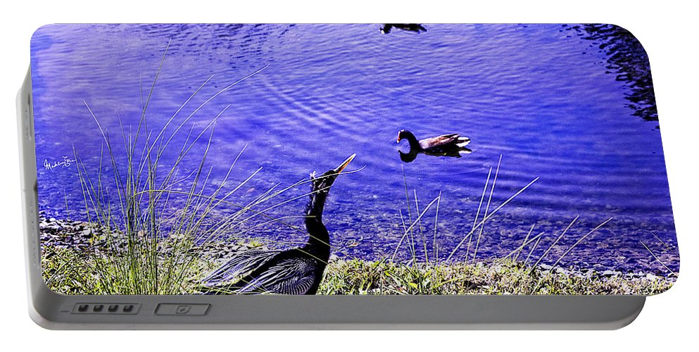 Pond Portable Battery Charger featuring the photograph Pond Days by Madeline Ellis