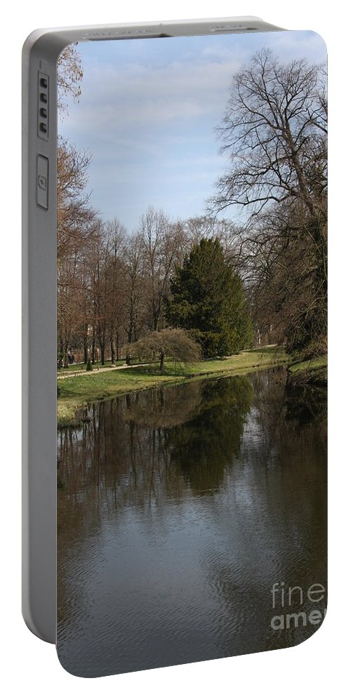 Pond Portable Battery Charger featuring the photograph Pond In The Park by Christiane Schulze Art And Photography