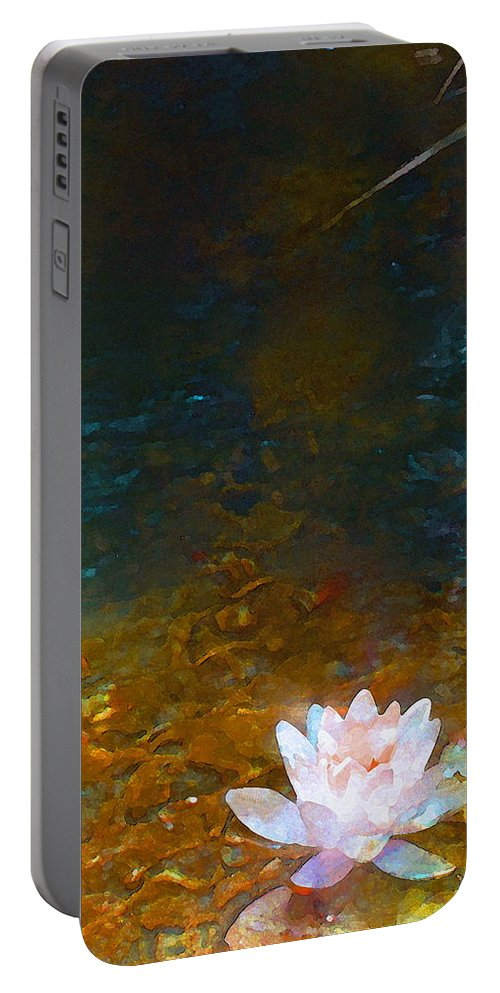 Floral Portable Battery Charger featuring the photograph Pond Lily 27 by Pamela Cooper