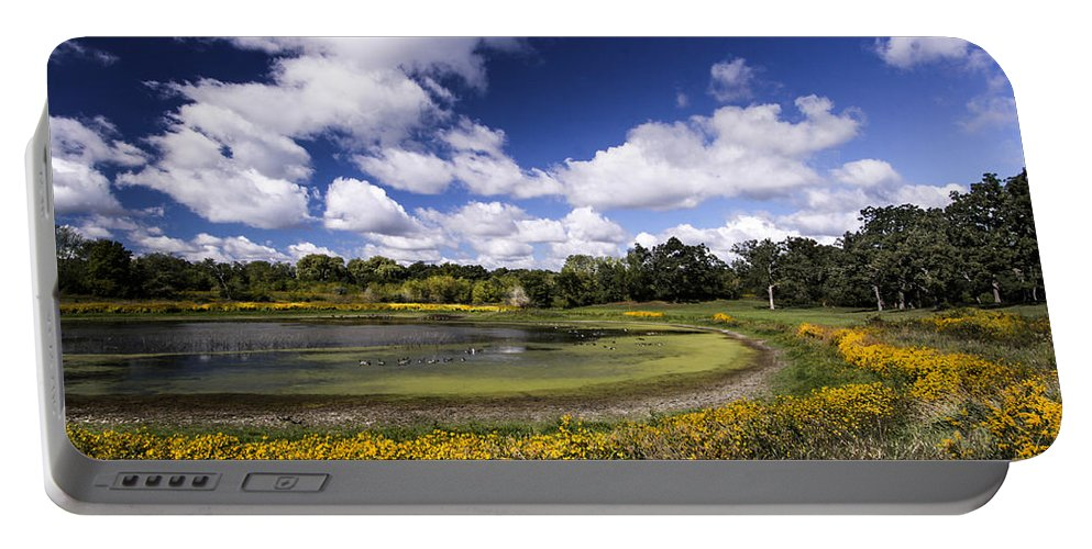 Sky Portable Battery Charger featuring the photograph Pond by Mark Robert Bein