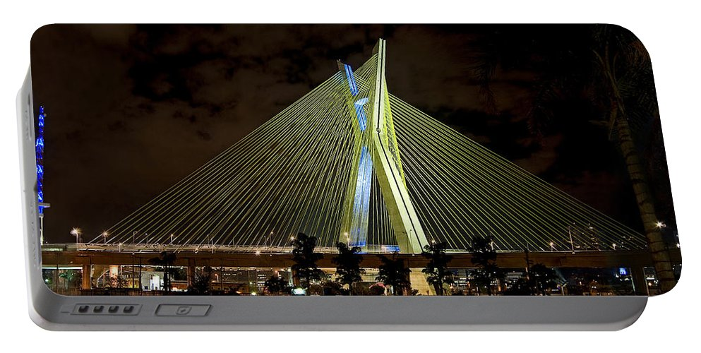 Brooklin Portable Battery Charger featuring the photograph Ponte Octavio Frias De Oliveira - Sao Paulo - Exclusive View by Carlos Alkmin