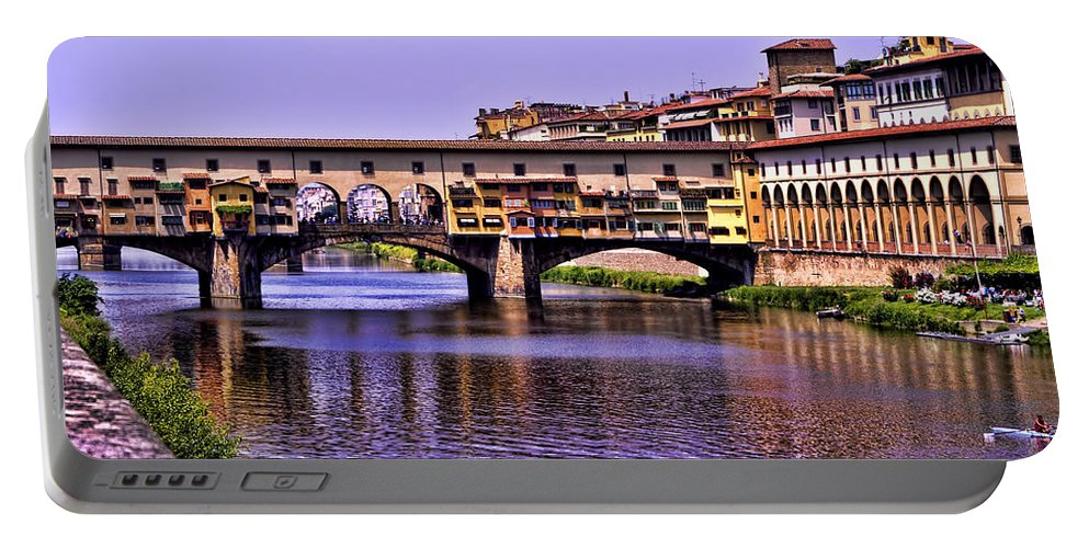 Ponte Vecchio Portable Battery Charger featuring the photograph Ponte Vecchio Bridge - Florence by Jon Berghoff