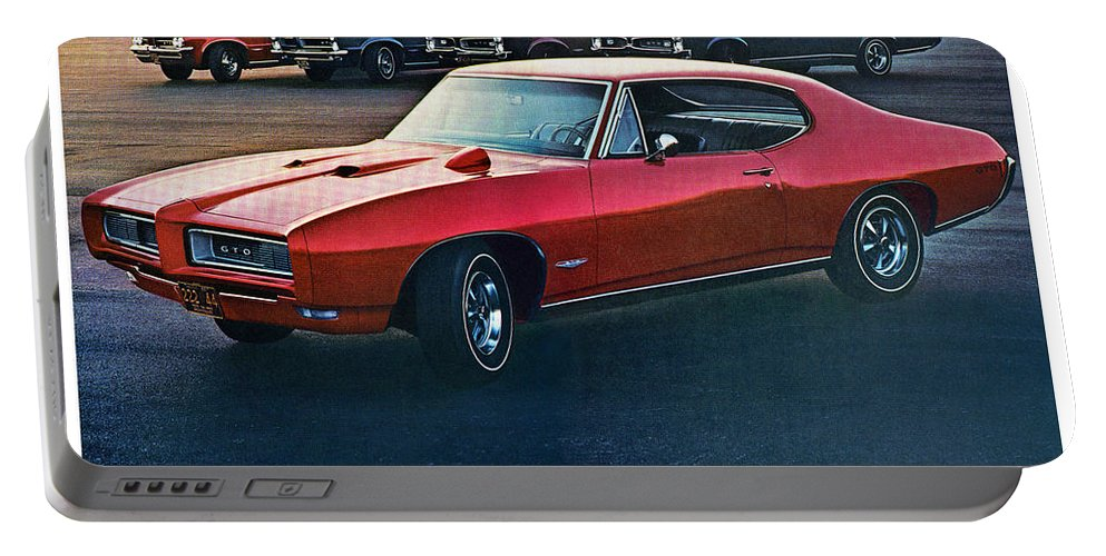 1968 Portable Battery Charger featuring the digital art Pontiac Gto - 1964 1965 1966 1967 1968 by Digital Repro Depot